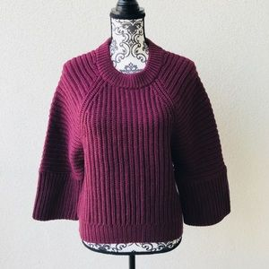 😍NWT Lord&taylor burgundy oversized sweater M
